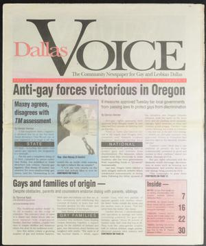 Primary view of object titled 'Dallas Voice (Dallas, Tex.), Vol. 10, No. 9, Ed. 1 Friday, July 2, 1993'.