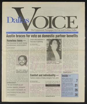 Primary view of object titled 'Dallas Voice (Dallas, Tex.), Vol. 11, No. 1, Ed. 1 Friday, May 6, 1994'.