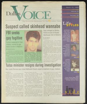 Primary view of object titled 'Dallas Voice (Dallas, Tex.), Vol. 15, No. 46, Ed. 1 Friday, March 12, 1999'.