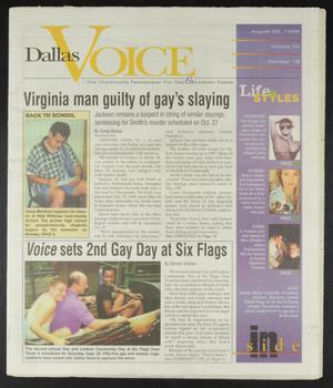 Primary view of object titled 'Dallas Voice (Dallas, Tex.), Vol. 15, No. 18, Ed. 1 Friday, August 28, 1998'.
