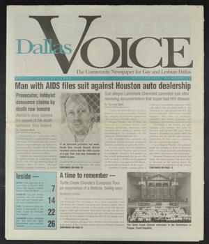 Primary view of object titled 'Dallas Voice (Dallas, Tex.), Vol. 12, No. 12, Ed. 1 Friday, July 21, 1995'.