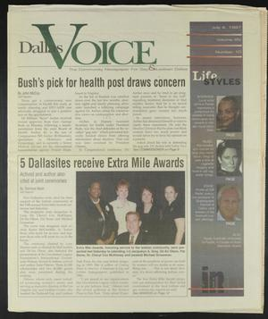 Primary view of object titled 'Dallas Voice (Dallas, Tex.), Vol. 14, No. 10, Ed. 1 Friday, July 4, 1997'.