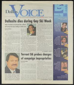 Primary view of object titled 'Dallas Voice (Dallas, Tex.), Vol. 18, No. 41, Ed. 1 Friday, February 1, 2002'.