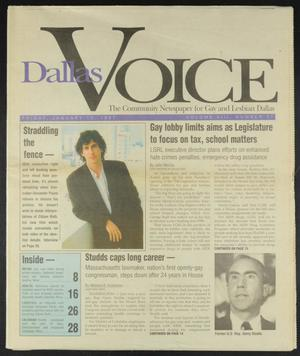 Primary view of object titled 'Dallas Voice (Dallas, Tex.), Vol. 13, No. 37, Ed. 1 Friday, January 10, 1997'.