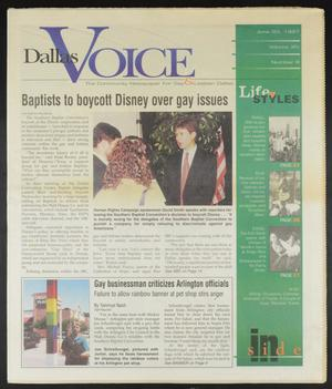 Primary view of object titled 'Dallas Voice (Dallas, Tex.), Vol. 14, No. 8, Ed. 1 Friday, June 20, 1997'.