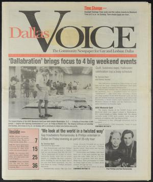 Primary view of object titled 'Dallas Voice (Dallas, Tex.), Vol. 11, No. 26, Ed. 1 Friday, October 28, 1994'.