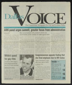 Primary view of object titled 'Dallas Voice (Dallas, Tex.), Vol. 12, No. 14, Ed. 1 Friday, August 4, 1995'.