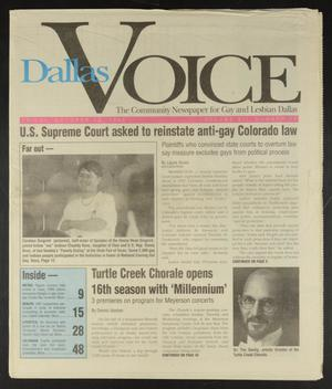 Primary view of object titled 'Dallas Voice (Dallas, Tex.), Vol. 12, No. 24, Ed. 1 Friday, October 13, 1995'.
