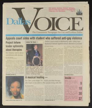 Primary view of object titled 'Dallas Voice (Dallas, Tex.), Vol. 13, No. 14, Ed. 1 Friday, August 2, 1996'.