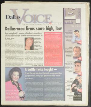 Primary view of object titled 'Dallas Voice (Dallas, Tex.), Vol. 19, No. 16, Ed. 1 Friday, August 16, 2002'.