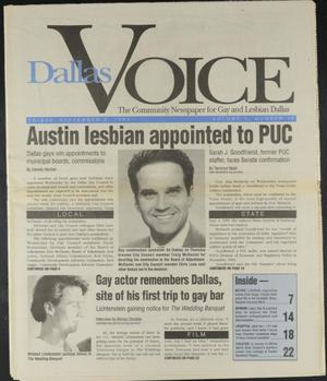 Primary view of object titled 'Dallas Voice (Dallas, Tex.), Vol. 10, No. 17, Ed. 1 Friday, September 3, 1993'.