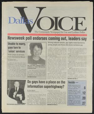 Primary view of object titled 'Dallas Voice (Dallas, Tex.), Vol. 10, No. 41, Ed. 1 Friday, February 11, 1994'.