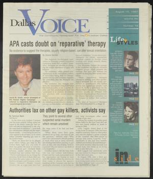 Primary view of object titled 'Dallas Voice (Dallas, Tex.), Vol. 14, No. 16, Ed. 1 Friday, August 15, 1997'.