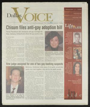 Primary view of object titled 'Dallas Voice (Dallas, Tex.), Vol. 15, No. 33, Ed. 1 Friday, December 11, 1998'.
