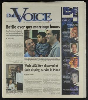 Primary view of object titled 'Dallas Voice (Dallas, Tex.), Vol. 20, No. 33, Ed. 1 Friday, December 5, 2003'.