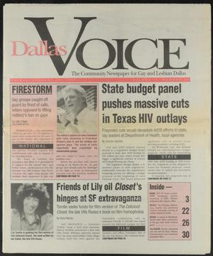 Primary view of object titled 'Dallas Voice (Dallas, Tex.), Vol. 9, No. 40, Ed. 1 Friday, January 29, 1993'.