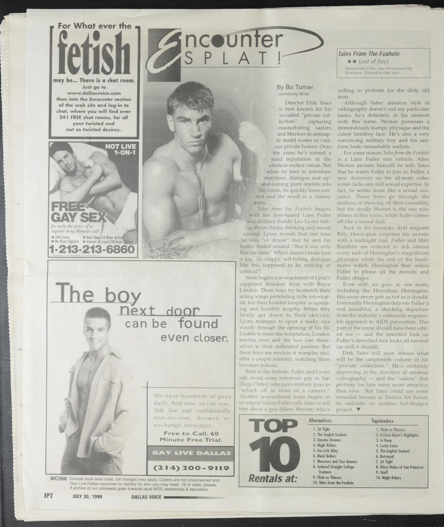 Dallas Voice (Dallas, Tex.), Vol. 16, No. 13, Ed. 1 Friday, July 30, 1999 -  Page 46 of 72 - Digital Library