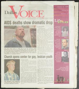 Primary view of object titled 'Dallas Voice (Dallas, Tex.), Vol. 15, No. 24, Ed. 1 Friday, October 9, 1998'.