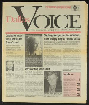 Primary view of object titled 'Dallas Voice (Dallas, Tex.), Vol. 12, No. 44, Ed. 1 Friday, March 1, 1996'.