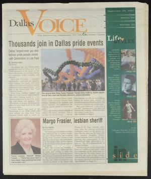 Primary view of object titled 'Dallas Voice (Dallas, Tex.), Vol. 14, No. 22, Ed. 1 Friday, September 26, 1997'.
