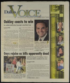 Primary view of object titled 'Dallas Voice (Dallas, Tex.), Vol. 20, No. 2, Ed. 1 Friday, May 9, 2003'.