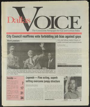 Primary view of object titled 'Dallas Voice (Dallas, Tex.), Vol. 11, No. 37, Ed. 1 Friday, January 27, 1995'.