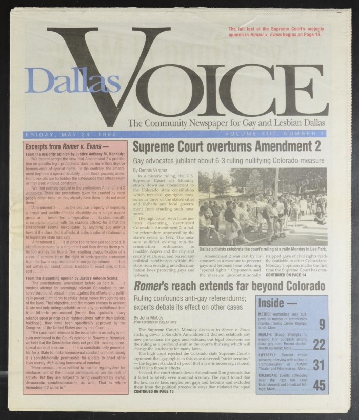 Denver lesbian magazine or newspaper