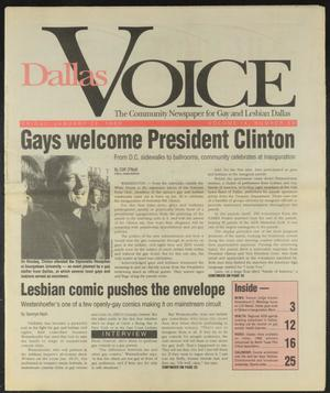 Primary view of object titled 'Dallas Voice (Dallas, Tex.), Vol. 9, No. 39, Ed. 1 Friday, January 22, 1993'.