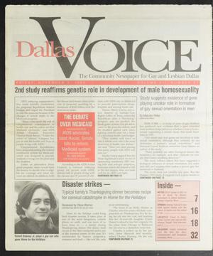 Primary view of object titled 'Dallas Voice (Dallas, Tex.), Vol. 12, No. 27, Ed. 1 Friday, November 3, 1995'.