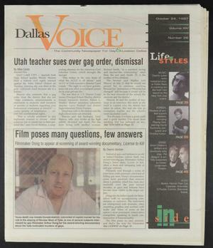 Primary view of object titled 'Dallas Voice (Dallas, Tex.), Vol. 14, No. 26, Ed. 1 Friday, October 24, 1997'.