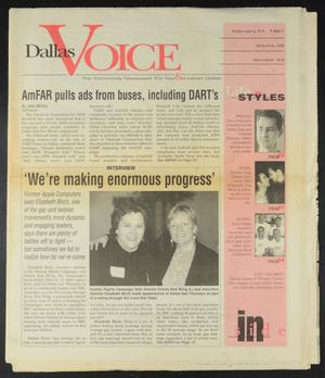 Primary view of object titled 'Dallas Voice (Dallas, Tex.), Vol. 13, No. 43, Ed. 1 Friday, February 21, 1997'.