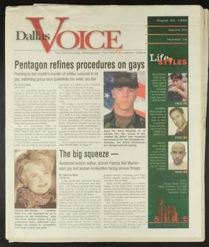 Primary view of object titled 'Dallas Voice (Dallas, Tex.), Vol. 16, No. 16, Ed. 1 Friday, August 20, 1999'.
