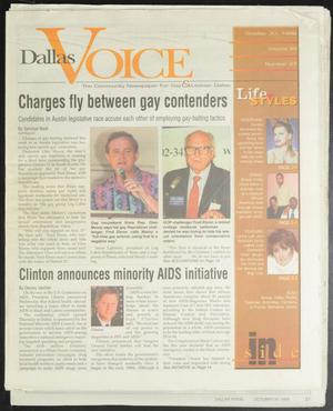 Primary view of object titled 'Dallas Voice (Dallas, Tex.), Vol. 15, No. 27, Ed. 1 Friday, October 30, 1998'.