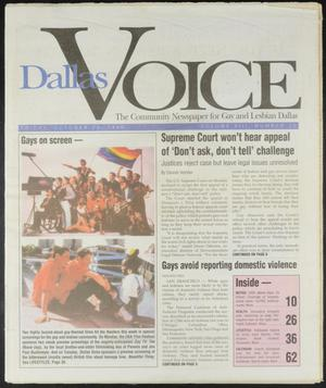 Primary view of object titled 'Dallas Voice (Dallas, Tex.), Vol. 13, No. 26, Ed. 1 Friday, October 25, 1996'.