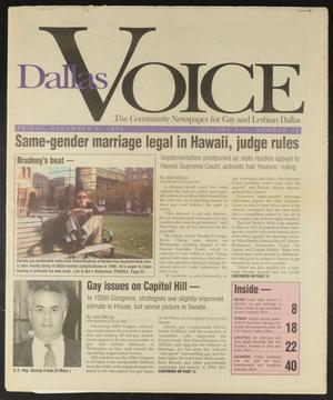 Primary view of object titled 'Dallas Voice (Dallas, Tex.), Vol. 13, No. 32, Ed. 1 Friday, December 6, 1996'.