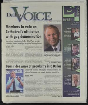 Primary view of object titled 'Dallas Voice (Dallas, Tex.), Vol. 20, No. 12, Ed. 1 Friday, July 18, 2003'.