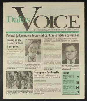 Primary view of object titled 'Dallas Voice (Dallas, Tex.), Vol. 12, No. 19, Ed. 1 Friday, September 8, 1995'.