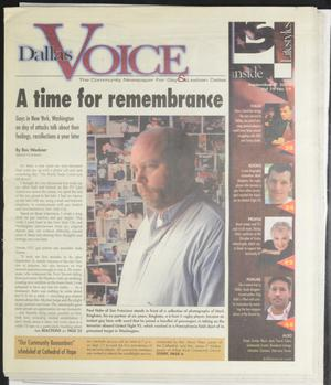 Primary view of object titled 'Dallas Voice (Dallas, Tex.), Vol. 19, No. 19, Ed. 1 Friday, September 6, 2002'.