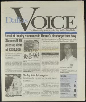 Primary view of object titled 'Dallas Voice (Dallas, Tex.), Vol. 11, No. 12, Ed. 1 Friday, July 22, 1994'.