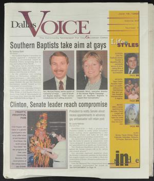 Primary view of object titled 'Dallas Voice (Dallas, Tex.), Vol. 16, No. 7, Ed. 1 Friday, June 18, 1999'.