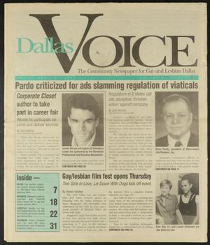 Primary view of object titled 'Dallas Voice (Dallas, Tex.), Vol. 11, No. 51, Ed. 1 Friday, April 21, 1995'.