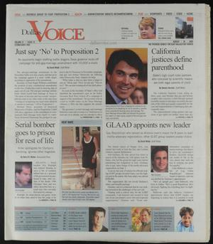 Primary view of object titled 'Dallas Voice (Dallas, Tex.), Vol. 22, No. 15, Ed. 1 Friday, August 26, 2005'.