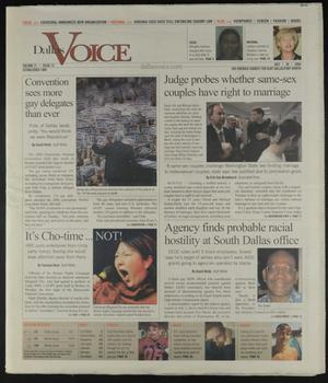 Primary view of object titled 'Dallas Voice (Dallas, Tex.), Vol. 21, No. 12, Ed. 1 Friday, July 30, 2004'.