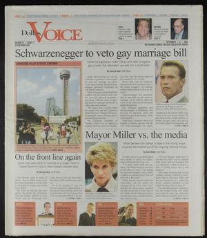 Primary view of object titled 'Dallas Voice (Dallas, Tex.), Vol. 22, No. 17, Ed. 1 Friday, September 9, 2005'.