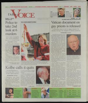 Primary view of object titled 'Dallas Voice (Dallas, Tex.), Vol. 22, No. 29, Ed. 1 Friday, December 2, 2005'.