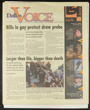 Primary view of object titled 'Dallas Voice (Dallas, Tex.), Vol. 18, No. 36, Ed. 1 Friday, January 4, 2002'.