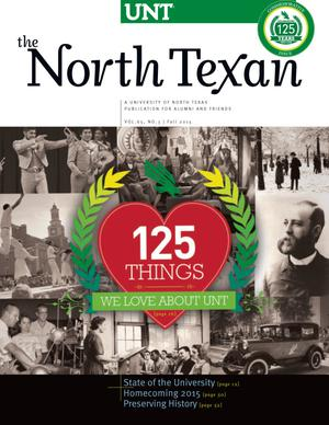 Primary view of object titled 'The North Texan, Volume 65, Number 3, Fall 2015'.