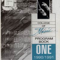 College of Music Program Books