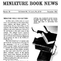 Miniature Book News